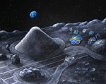 2008 space art contest Lunar Zen Garden