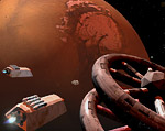 2008 space art contest Mars Orbital Processing Station