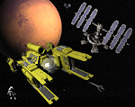 2008 space art contest Mars Orbital Stations