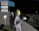 2008 space art contest Moon Scene
