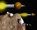 2008 space art contest Starships and Asteroid Settlement