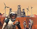 2009 Space Settlement Art Contest Life on Mars Philip Kalvan