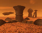 "2009 Space Settlement Art Contest Mars Colony 1 ""After the Storm"" Maylock Stansbury"