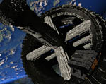 2009 Space Settlement Art Contest Orbital Station NSS New Dawn Maylock Stansbury