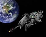2009 Space Settlement Art Contest Terraston Orbital Mark Gearhart