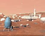 2009 Space Settlement Art Contest Tharsis Settlement Geir Lanesskog