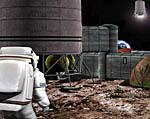 2009 Space Settlement Art Contest Uruguayan Lunar Base German Corbalan