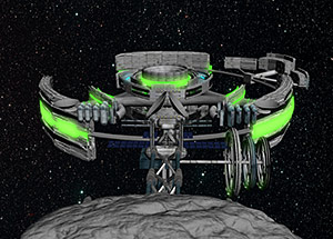 2013 student art contest Asteroid Docked Settlement
