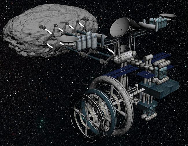 2013 student art contest Voinea Asteroid Mining Module