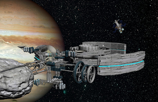 2013 student art contest Jupiter Orbital Space Settlement