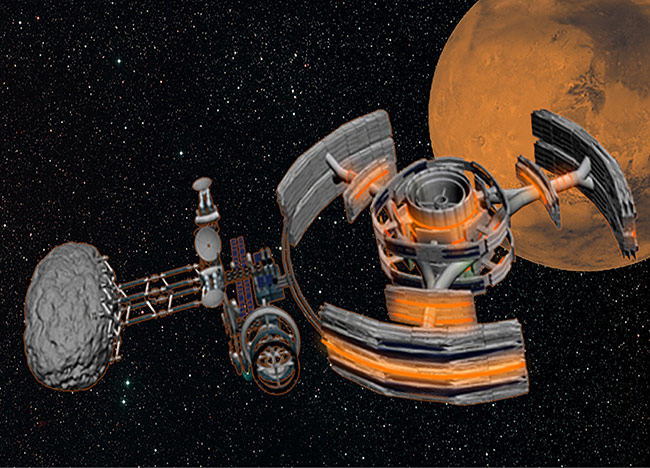 2013 student art contest Mars Mining Base