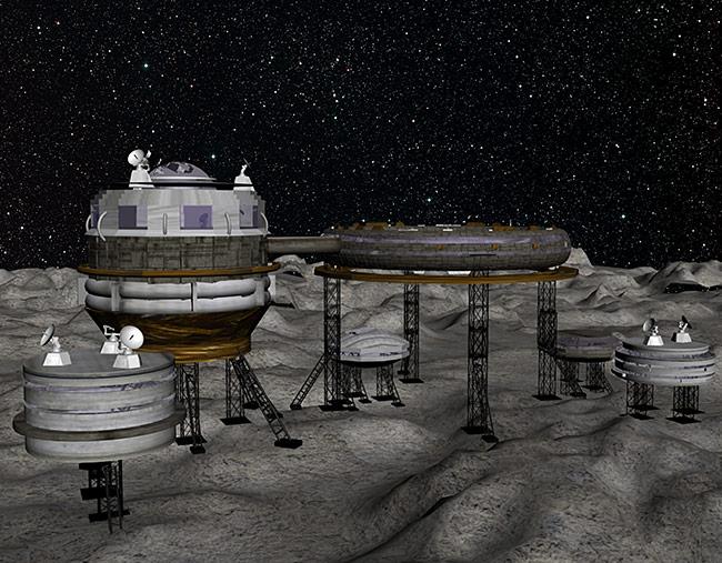 2013 student art contest Permanent Lunar Base