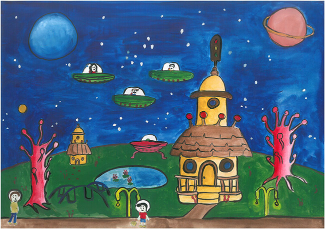 2015 Student Space Art Contest Alien Friends