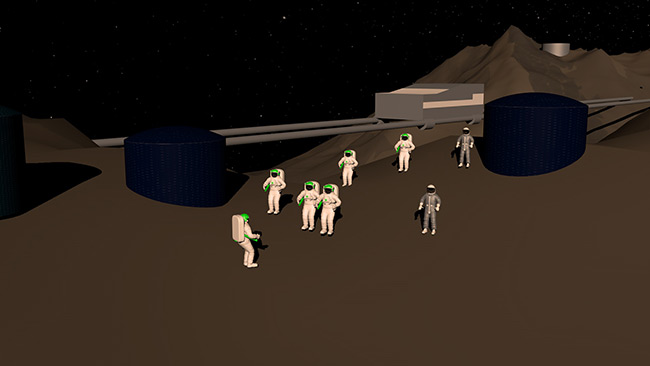2015 Student Space Art Contest Asteroid Colony