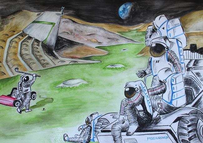 2015 Student Space Art Contest Astro Turf