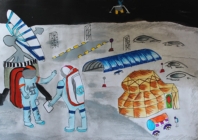 2015 Student Space Art Contest Base Camp