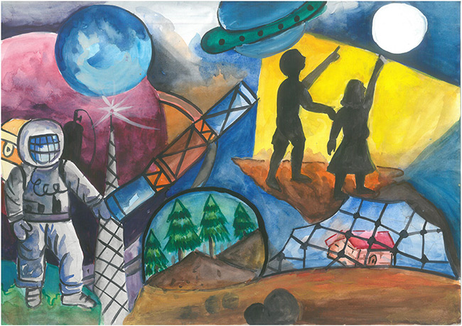 2015 Student Space Art Contest Giving Life