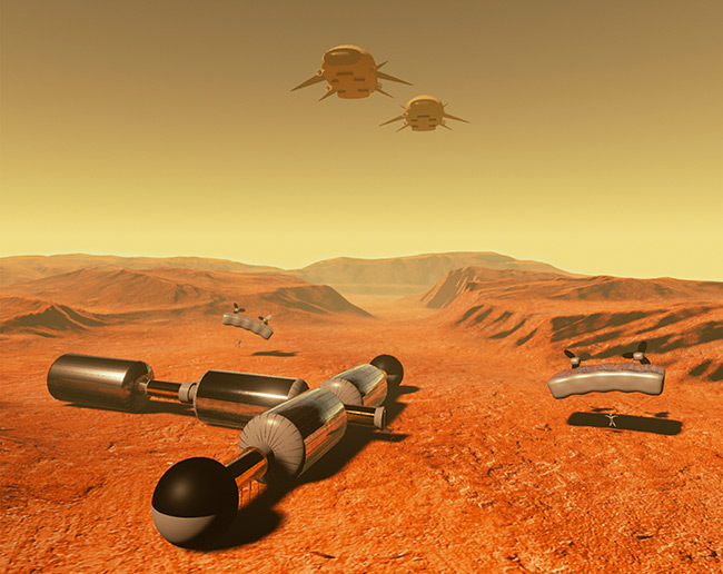 2015 Student Space Art Contest Habitat With Rapid Assembly On Mars