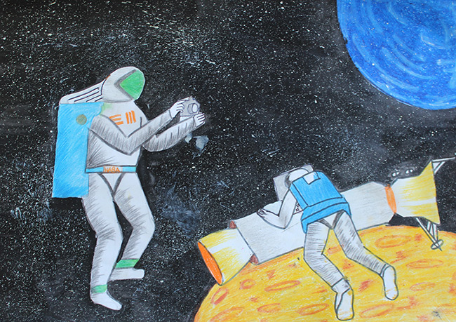 2015 Student Space Art Contest Instagramming