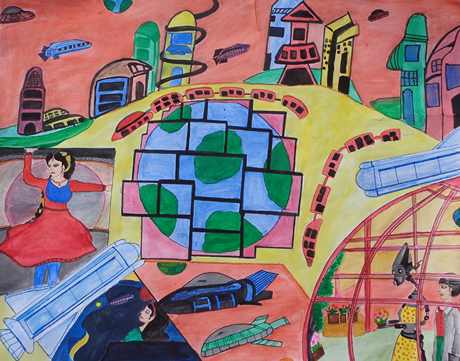 2015 Student Space Art Contest Living and Working in Space Settlements