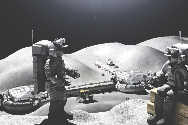 2015 Student Space Art Contest Lunar Outpost Construction
