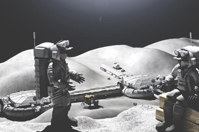 2015 Student Space Art Contest Lunar Outpost Construction