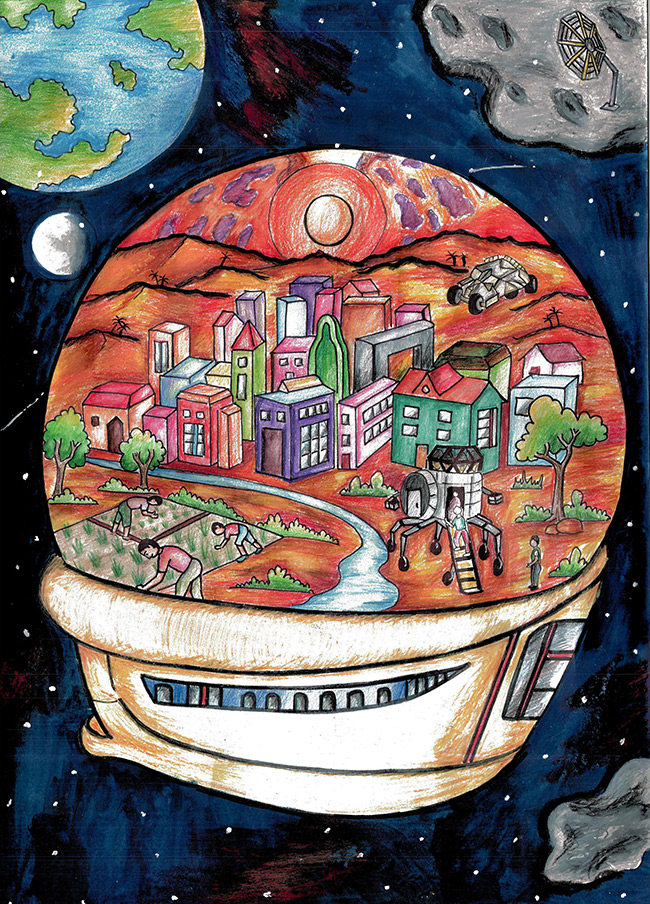 2015 Student Space Art Contest Mars Living