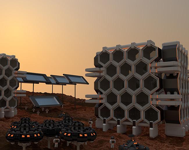 2015 Student Space Art Contest Mars Settlement