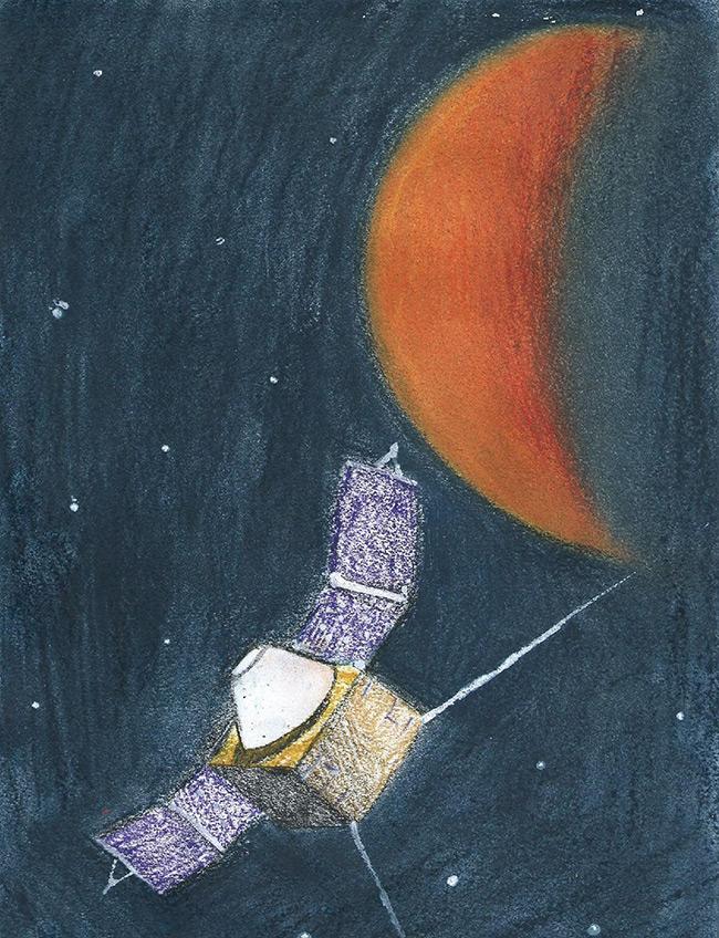 2015 Student Space Art Contest Satellite at Mars