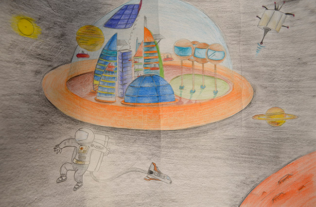 2015 Student Space Art Contest Working In Space 2