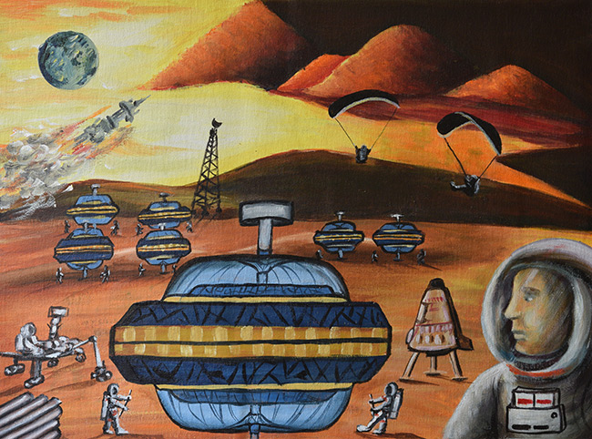 2016 student art contest Martian Base construction