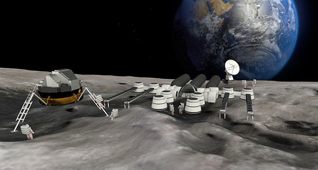 2016 student art contest Moon Base