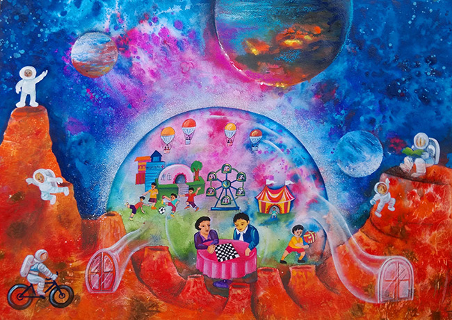 2016 student art contest My Dream Paradise with My Friends