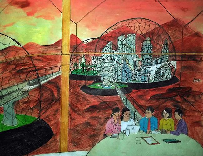 2016 student art contest The Martians