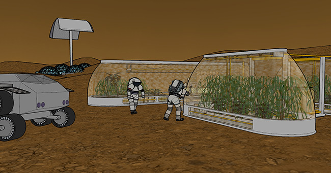 2017 student art contest Another Day at Mars