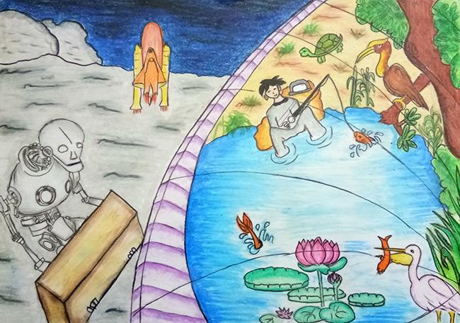 2017 student art contest Artificial Ecosystem