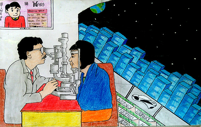 2017 student art contest First Eye Hospital in Orbital Space Settlement