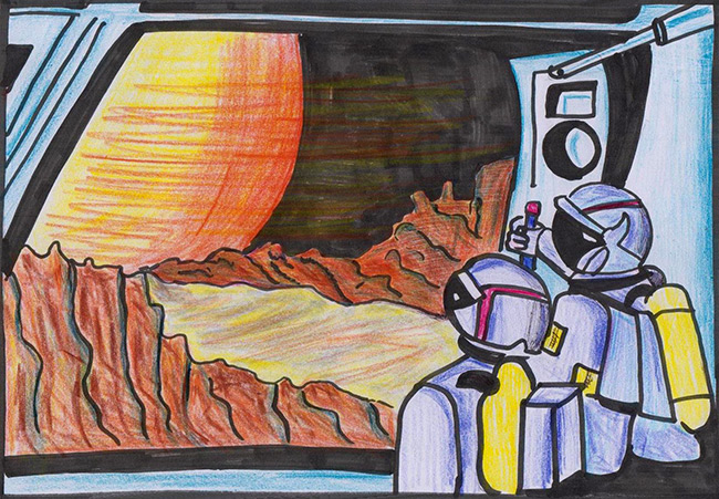 2017 student art contest In Front of the Red Planet