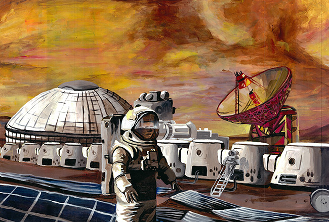 2017 student art contest Transportation Logistics on Mars