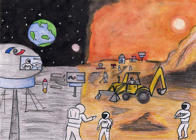 2017 student art contest People Living and Working in Space Settlements