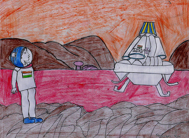 2017 student art contest People on Mars