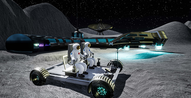 2017 student art contest Ride on the Moon
