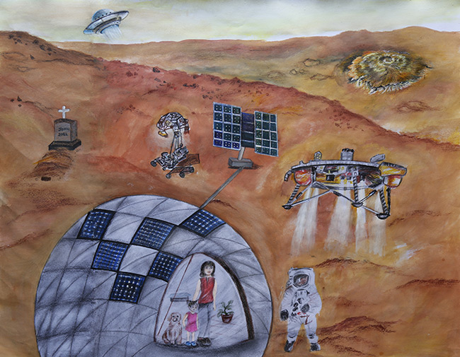 2017 student art contest The Future of Mars