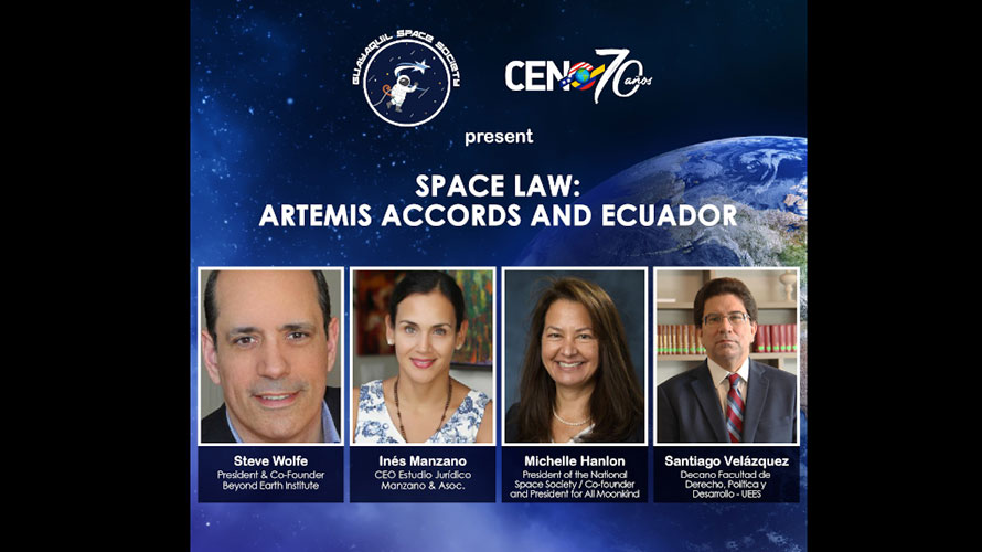 Guayaquil NSS Chapter Hosts International Panel on Artemis Accords
