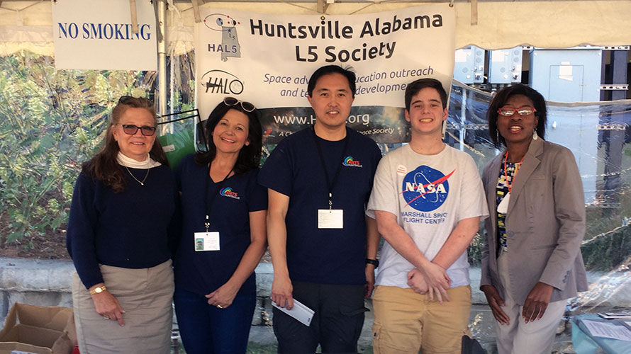 Huntsville Chapter Hosts Space Mission Patch Tent at Arts Event