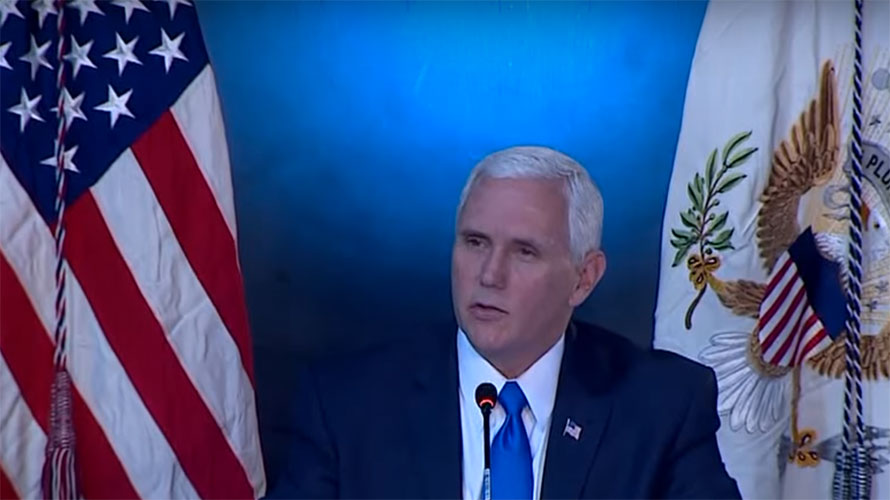 Pence at National Space Council