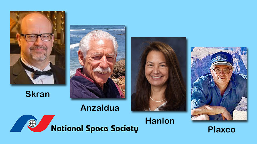 New National Space Society leaders Skran, Anzaldua, Hanlon, and Plaxco working to move the Society to the next level