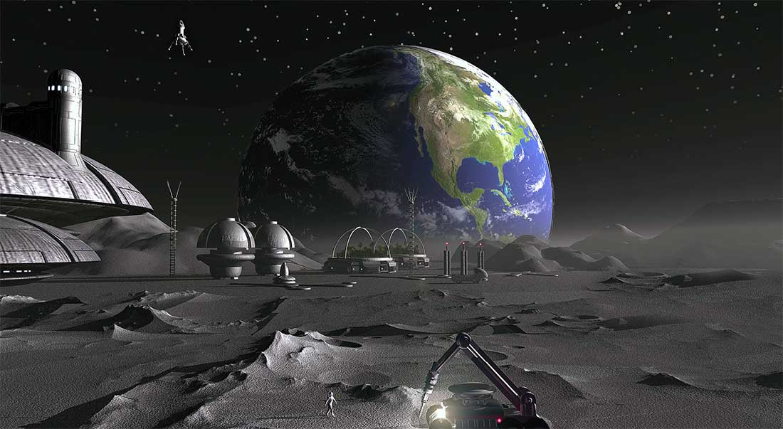 Space Settlement Moon Luna Joe Vinton NSS