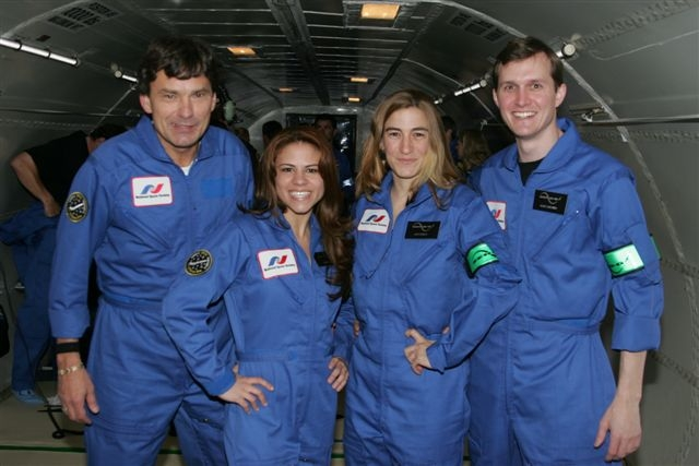 NSS members on Zero G Flight