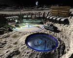 Aquarius One Lunar Base Space Art